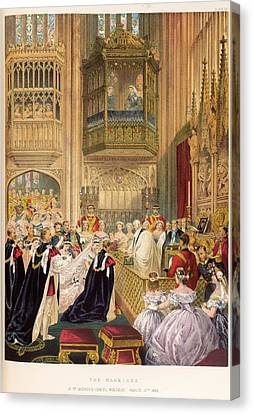 The Marriage Of The Prince Of Wales Canvas Print by British Library