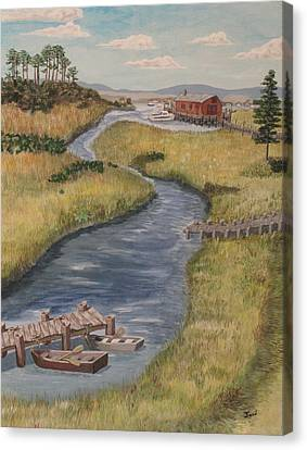 The Marshes Canvas Print by Hilda and Jose Garrancho
