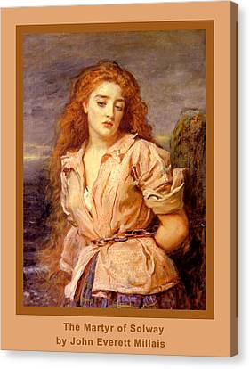 The Martyr Of The Solway Poster Canvas Print by John Everett Millais