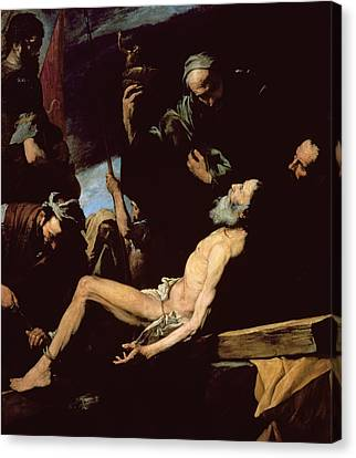 The Wooden Cross Canvas Print - The Martyrdom Of Saint Andrew by Jusepe de Ribera