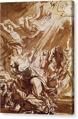 The Martyrdom Of Saint Catherine Canvas Print by Sir Anthony van Dyck