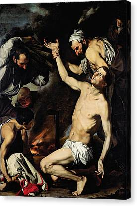 The Martyrdom Of Saint Lawrence Canvas Print by Jusepe de Ribera