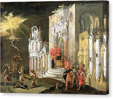 The Martyrdom Of St. Catherine, 17th Canvas Print by Monsu Desiderio