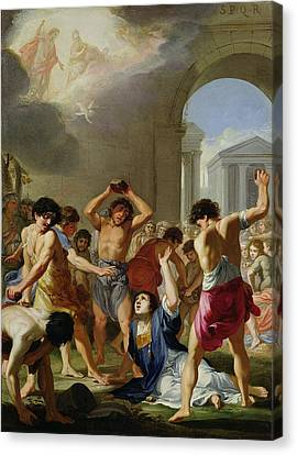 The Martyrdom Of St. Stephen, C.1623 Canvas Print by Jacques Stella