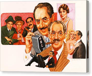 The Marx Brothers Canvas Print
