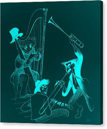 The Marx Brothers Light Blue Canvas Print by Rob Hans