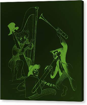 The Marx Brothers Olive Green Canvas Print by Rob Hans