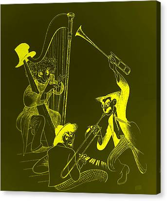 The Marx Brothers Yellow Canvas Print by Rob Hans