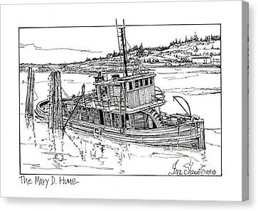 The Mary D. Hume Canvas Print by Ira Shander