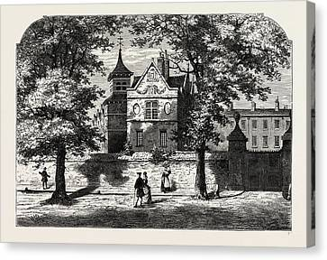 The Marylebone School-house In 1780 Canvas Print by Litz Collection