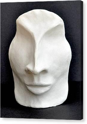 Hidden Face Canvas Print - The Mask by Marianna Mills