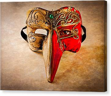 The Mask On The Floor Canvas Print by Bob Orsillo
