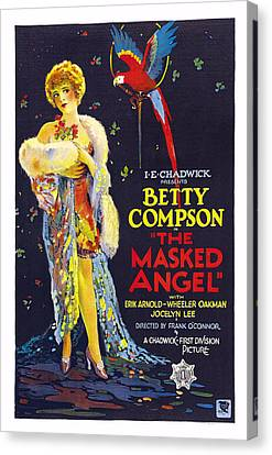 The Masked Angel, Us Poster, Betty Canvas Print