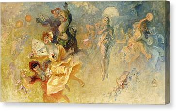 Fairies Canvas Print - The Masked Ball by Jules Cheret