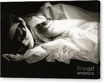 The Masked Woman Canvas Print by Sharon Coty