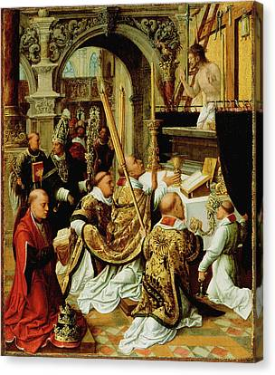 The Mass Of Saint Gregory The Great Adriaen Ysenbrandt Canvas Print