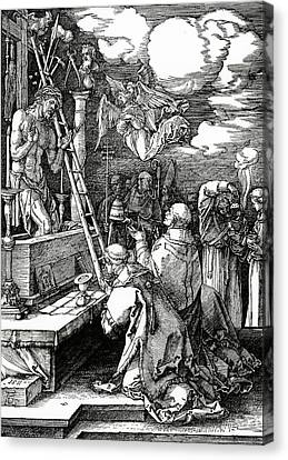 The Mass Of St. Gregory Canvas Print by Albrecht Duerer
