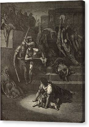 The Massacre Of The Innocents Canvas Print by Antique Engravings