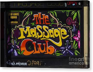 The Massage Club Canvas Print by Brian Roscorla