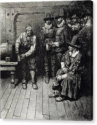 Tankard Canvas Print - The Master Caused Us To Have Some Beere, From Harpers Magazine, 1883 Litho by Howard Pyle