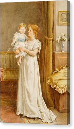 The Master Of The House Canvas Print by George Goodwin Kilburne