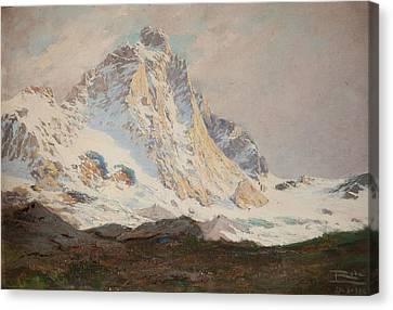 The Matterhorn, 1910 Canvas Print by Leonardo Roda