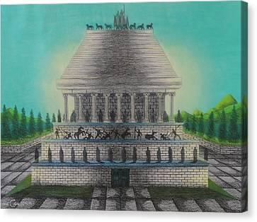 The Mausoleum Of Halicarnassus Canvas Print