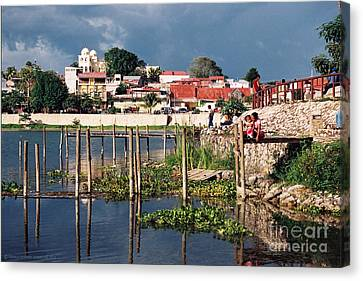Conquistadores Canvas Print - The Mayan Isle Of Flores - Peten Guatemala by Gerald MacLennon