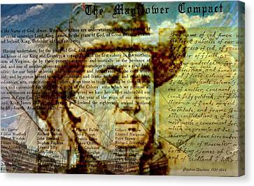 The Mayflower Compact Canvas Print by Diana Angstadt