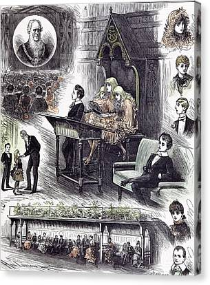 The Mayors  Juvenile Ball At The Manchester Townhall 1882 Canvas Print by English School