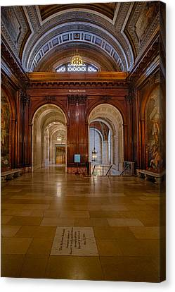 The Mcgraw Rotunda At The New York Public Library Canvas Print by Susan Candelario