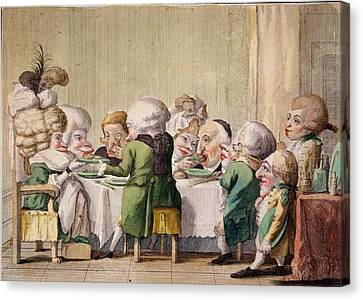 The Meal, C.1790 Canvas Print by Carlo Lasinio
