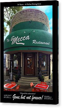 The Mecca Restaurant Canvas Print