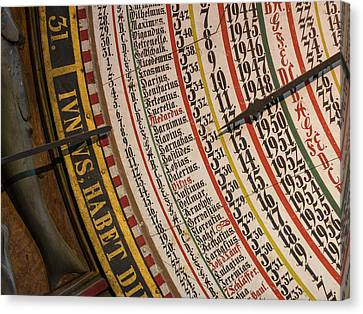 Chronometer Canvas Print - The Medieval Astronomic Clock, The Only by Martin Zwick