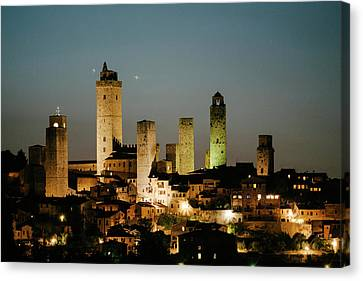 The Medieval Town Of San Gimignano Canvas Print
