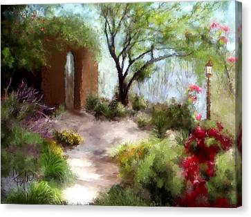 The Meditative Garden  Canvas Print by Colleen Taylor
