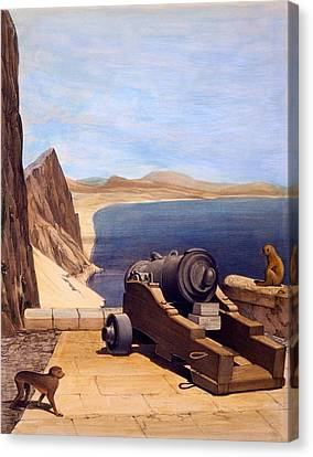 The Mediterranean Battery, Gibraltar Canvas Print by Captain J. M. Carter