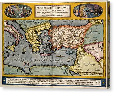 The Mediterranean Region Canvas Print by British Library