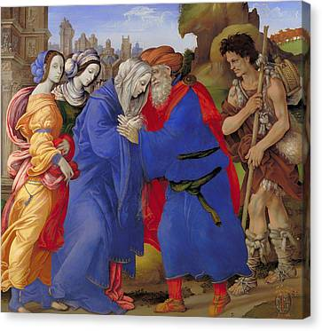 The Meeting Of Joachim And Anne Outside The Golden Gate Of Jerusalem  Canvas Print