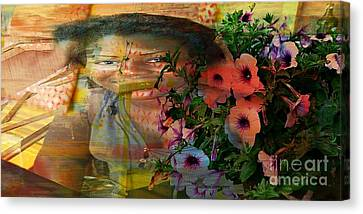 The Memory Of A Village Girl Canvas Print by Fania Simon