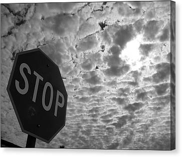 Stop Sign Canvas Print - The Message by Glenn McCarthy Art and Photography