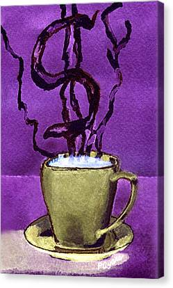Canvas Print featuring the painting The Midas Cup by Paula Ayers