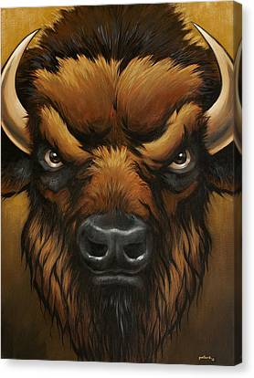 The Mighty Bison Canvas Print