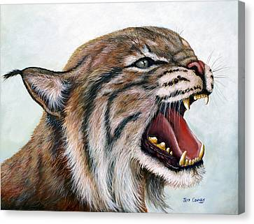 Bobcats Canvas Print - The Mighty Roar by Jeff Conway