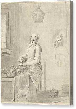 The Milkmaid, Jurriaan Cootwijck, Johannes Vermeer Canvas Print by Jurriaan Cootwijck And Johannes Vermeer