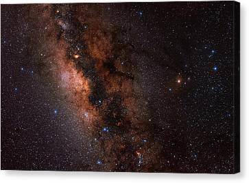 The Milky Way In Scorpius And Sagittarius Canvas Print by Babak Tafreshi