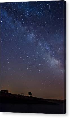 The Milky Way In The Lake Canvas Print by Alexandre Martins