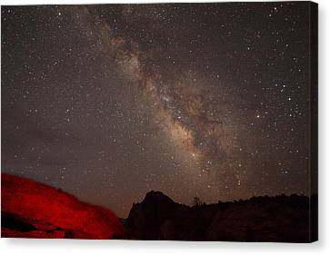 The Milky Way Over Mesa Arch Canvas Print