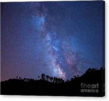 The Milky Way Over The Mountain Canvas Print