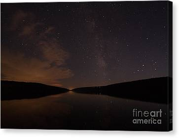 Finger Lakes Canvas Print - The Milkyway Over Hemlock Lake by Steve Clough